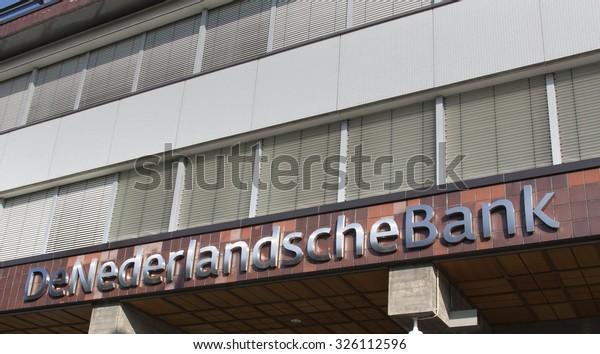 Amsterdam, Netherlands-october 10, 2015: De Nederlandsche Bank NV (DNB) is the central bank of the Netherlands located in Amsterdam