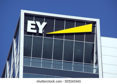 Amsterdam, Netherlands-october 22, 2016: Ey, ernst and young headquarters in amsterdam