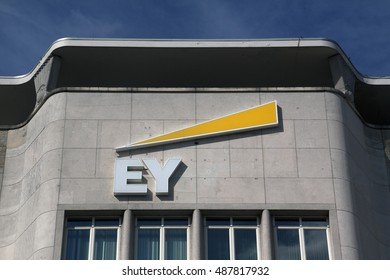 Amsterdam, Netherlands-september 18, 2016:facade of the ey, ernst en  young building in Amsterdam