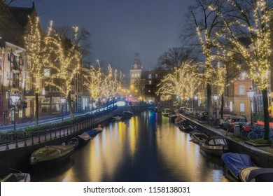 Amsterdam, NH, Netherlands, December 22, 2017: Light Festival in Amsterdam