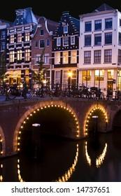 Amsterdam at Nighttime