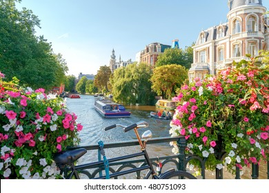 Amsterdam. Old city canal.