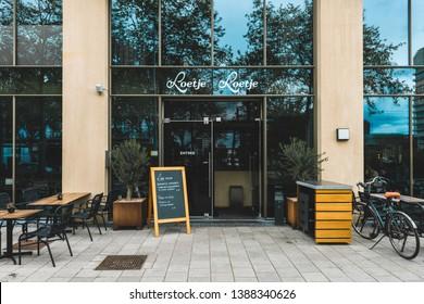 Amsterdam, Parnassusweg, The Netherlands, 05/03/2019, Restaurant Loetje zuidas, Facade of the restourant, Best steak from Amsterdam.