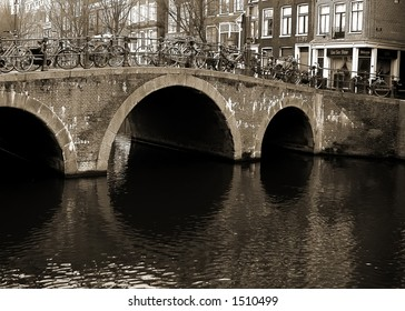 Amsterdam reflection - bridge