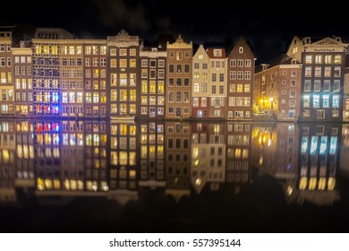 Amsterdam Reflections At Night
