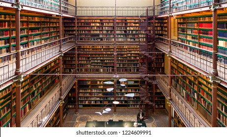 AMSTERDAM - SEP 27, 2014: View of the Rijksmuseum Research Library, the largest public art history research library in The Netherlands.