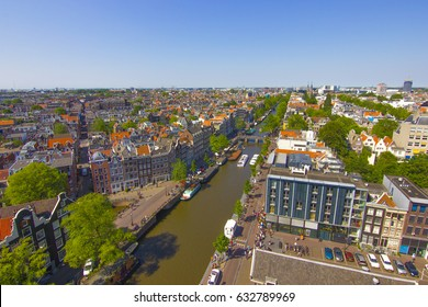 Amsterdam skyline and queue outside Anne Frank Museum  Concept: Travel, Explore, Holland, City, Tours