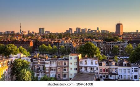 Amsterdam south skyline HDR