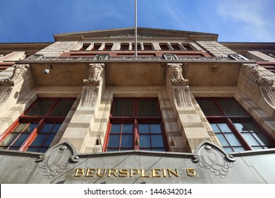 Amsterdam Stock Exchange at Beursplein square. Netherlands financial institution.