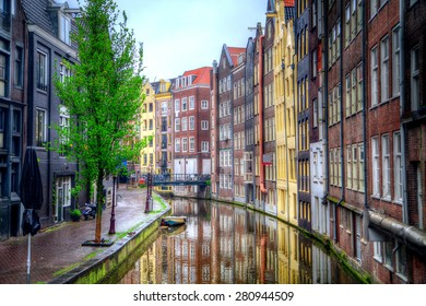 Amsterdam in the summer. beautiful authentic ancient city on the North Sea coast
