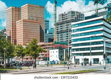 Amsterdam, Van Leijenberghlaan, the Netherlands, Modern office buildings in Amsterdam,  amsterdam zuidas 2019