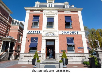 AMSTERDAM-APRIL 30: The Diamond Museum Amsterdam on April 30,2015, the Netherlands. The Diamant Museum is a diamond-themed museum located in the city's museum quarter.