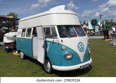 Amsterdam,netherlands-may 17, 2015: volkswagen t1 ice cream van