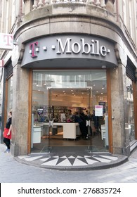 Amsterdam,netherlands-may 8, 2015: t-mobile store in amsterdam