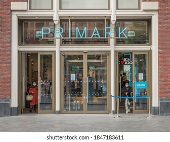 AMSTERDAM-OCTOBER 17 2020. Primark opened it's first store in Dublin under the name Penneys in 1969. They changed the name to Primark and now have 380 stores across Europe and America.