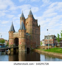The Amsterdamse Poort, former gateway to the  Amsterdam, Haarlem, Holland