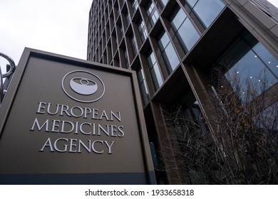 AMSTERDAM,THE NETHERLANDS- 12 08 2020 : sign of the european medicines agency building.