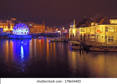 AMSTERDAM,THE NETHERLANDS-DECEMBER 26: Festival of Light, december 26 2013 in Amsterdam the Netherlands