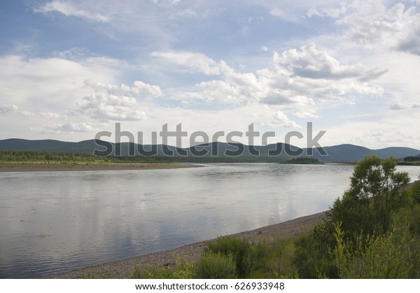 Amur river in the Far East of Russia.