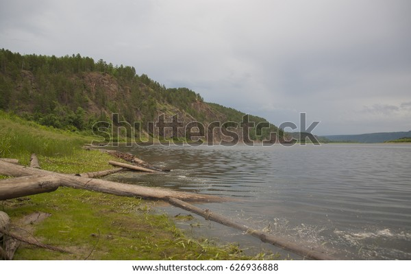 The Amur river in the Far East of Russia, the border with China.