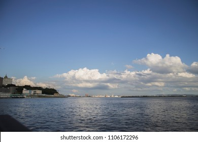 Amur river in Khabarovsk city, Russia.
