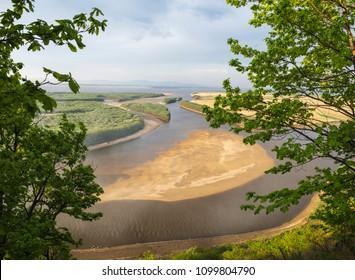 The Amur River near the village of Ommi. Khabarovsk Regionin the Russian Far East.