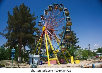 amusement park and ferris wheel, Ashgabat, Capital of Turkmenistan, Central Asia