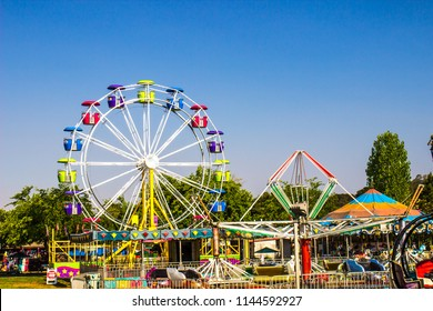 Amusement Rides At Local County Fair