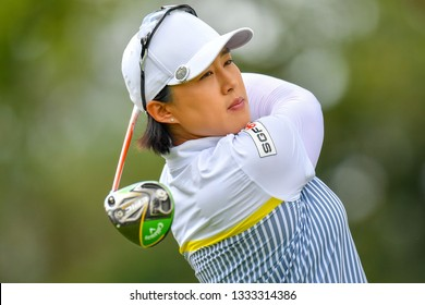 Amy Yang of Republic of Korea in action during the Honda LPGA Thailand 2019 Round 3 at Siam Country Club, Old Course on February 23, 2019 in Chonburi, Thailand.