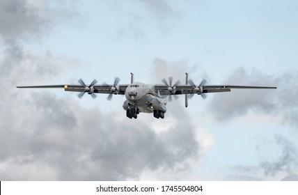 AN-22 Antonov Antei departed from the Kyiv-Antonov-2 International Airport to perform commercial missions to fight the coronavirus. AN-22 is the worlds largest turboprop-powered aircraft. May 31, 2020