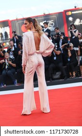 Ana Beatriz Barros walks the red carpet ahead of the 'Roma' screening during the 75th Venice Film Festival at Sala Grande on August 30, 2018 in Venice, Italy.