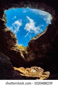 Ana Te Pahu Cave, Rapa Nui National Park, Easter Island, Chile