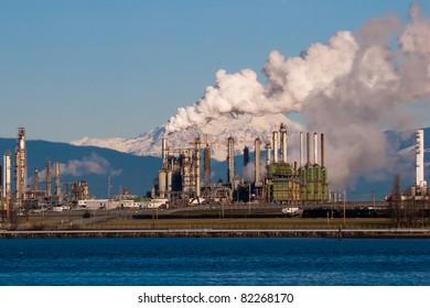 anacortes washington refinery smoke blocking mount baker