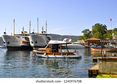 Anadolukavagi pier in the Beykoz district of Istanbul, Turkey.  Date: June 11, 2013.
