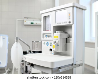 Anaesthetic Machine and Patient Monitoring System Anaesthesia Workstation with the Ventilation Breathing and Gas Scavenging Systems Medical Equipment