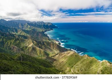 Anaga mountains view from Mirador Cabezo del Tejo, Tenerife island, Spain