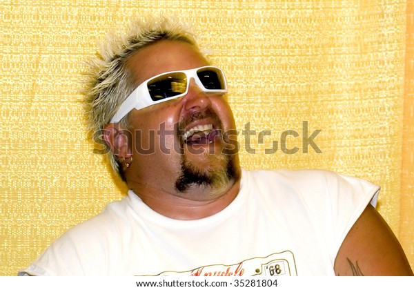 ANAHEIM, CA - AUGUST 8: America's Rock N Roll chef Guy Fieri attend Celebrity Food Show at Hilton Anaheim Hotel August 8, 2009 in Anaheim, CA.