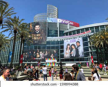 Anaheim, CA - July 10, 2019: YouTube, Instagram, Facebook, Snapchat, TikTok creators, industry experts and fans attend the VidCon conference at the Anaheim Convention Center