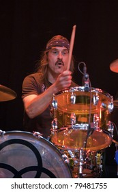 ANAHEIM, CA - JUNE 18: Jim Kersey of Led Zeppelin tribute band, Led Zepagain, holds down the beat at The Grove in Anaheim, CA on June 18, 2011.