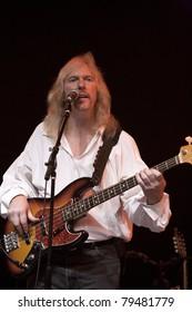 ANAHEIM, CA - JUNE 18: Jim Wootten of Led Zeppelin tribute band, Led Zepagain, holds down a groove at The Grove in Anaheim, CA on June 18, 2011.