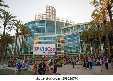 Anaheim, CA - June 22: YouTube creators, industry experts and fans attend the 6th annual VidCon conference at the Anaheim Convention Center in Anaheim, California on June 22, 2015