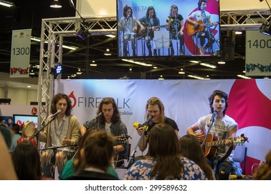 Anaheim, CA - June 23: The Ceremonies perform at the 6th annual VidCon conference at the Anaheim Convention Center in Anaheim, California on June 23, 2015