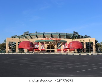 ANAHEIM, CA - MARCH 16: The Angel Stadium of Anaheim located in Anaheim, California on March 16, 2014. Angel Stadium of Anaheim is a ballpark which is home of the Los Angeles Angels of Anaheim of MLB.