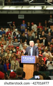 ANAHEIM CALIFORNIA, May 25, 2016: Republican Nominee Donald J. Trump speaks to Thousands of Fans at his Presidential Rally in the Anaheim Convention Center.  5.25.2016