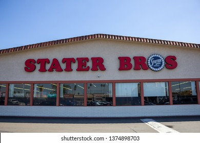 Anaheim, California/United States - 03/12/19: A store front sign for the grocery store known as Stater Bros.