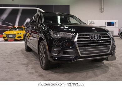 Anaheim - USA - October 15, 2015: Audi Q7 during Orange County International Auto Show.