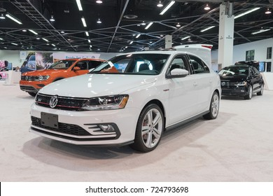 Anaheim - USA - September 28, 2017: Volkswagen Jetta GLI on display at the Orange County International Auto Show.