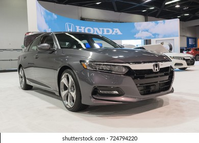 Anaheim - USA - September 28, 2017: Honda Accord on display at the Orange County International Auto Show.