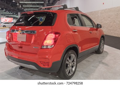 Anaheim - USA - September 28, 2017: Chevrolet Trax on display at the Orange County International Auto Show.