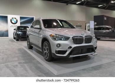 Anaheim - USA - September 28, 2017: BMW X1 sDrive28i on display at the Orange County International Auto Show.